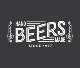 Hand Made Beers White on Black