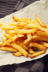 home made french fries straight from the oven.