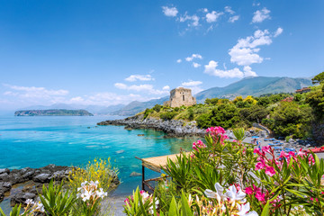 Torre Crawford San Nicola Arcella, Calabria, Italy Fototapete