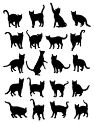 Cat Silhouettes, art vector design