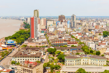 Aerial view at the city of Guayaquil, Ecuador