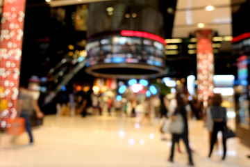 Abstract background Blur of shopping malls