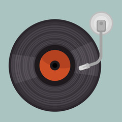 vinyl player isolated icon design, vector illustration  graphic