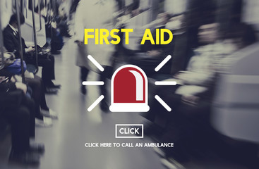 First Aid Emergency Accident Service Concept