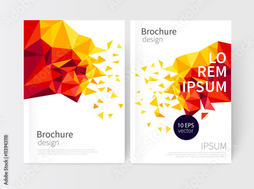 Minimalistic White cover Brochure design Flyer booklet annual – Free Report Cover Templates