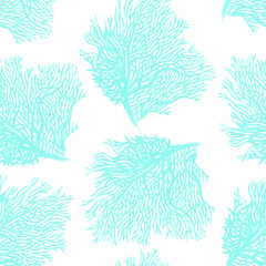 Seamless vector pattern with corals.