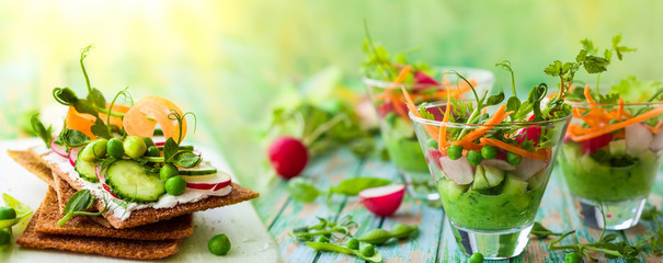 Photo sur Plexiglas Magasin alimentation healthy appetizer