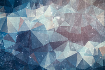 Iced abstract background - winter ice illustration