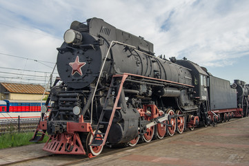 steam locomotive standing at the museum