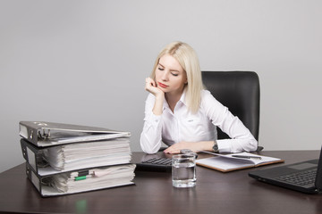 woman businessman working with documents folder