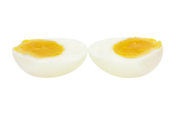 Peel boiled egg half cut ingredient