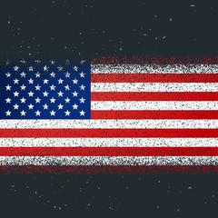 grunge textured flag of america