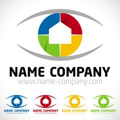 logo peintre décorateur conseil artisan maison