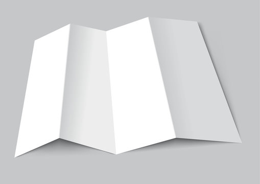 Folded paper mockup realistic template