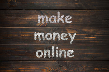 Make money online on a wooden boards