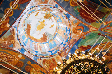 Ancient Frescoes On The Walls Of The Transfiguration Cathedral I