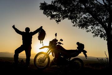 motorsiklet sürücüsü hedef başarısı