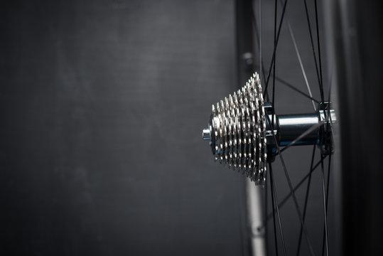 Bike wheel with chainring