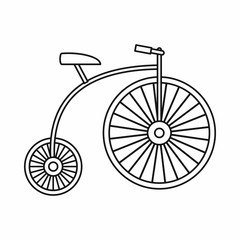 Penny-farthing icon, outline style
