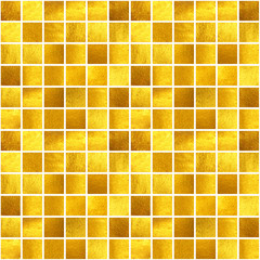 Seamless pattern with hand-painted golden squares.