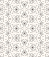 monochrome star pattern of striped rhombuses.