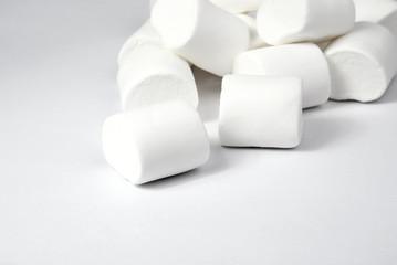Marshmallows on white