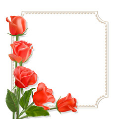 lifelike roses.