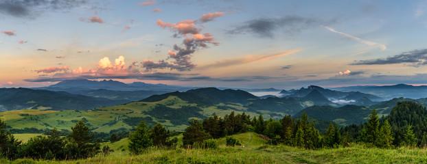 Pieniny - panorama z Wysokiego Wierchu