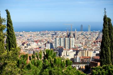 Bird's eye view of Barcelona.