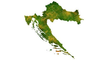 Croatia tropical texture map