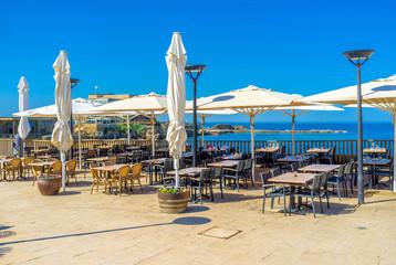 The outdoor cafe in Caesaria