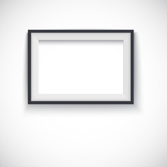Picture wood frame horizontal, for image or text.