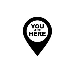 You are here simple icon