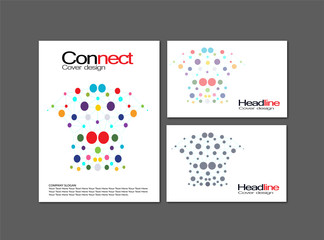 Connect logo,share logo,communication logo,social network,red,sound,audio,hyperlink, chain, handshake, partnership, union, vector logo template