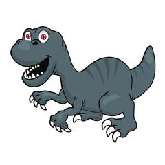 Cute velociraptor or raptor dinosaur