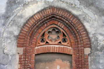 Worker village of Crespi d'Adda: factory detail. Color image