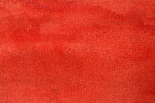 red watercolor background wet