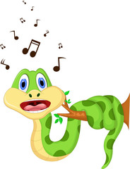cartoon snake singing
