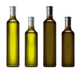 Oil bottles illustration