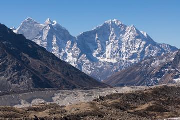 Kangtega and Thamserku mountain peak