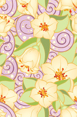 Seamless pattern with stylized flowers. Seamless pattern with abstract  flowers. Floral pattern can be used for wallpaper, pattern fills, web page background.