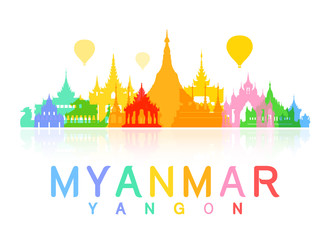 Myanmar Travel and Landmarks.