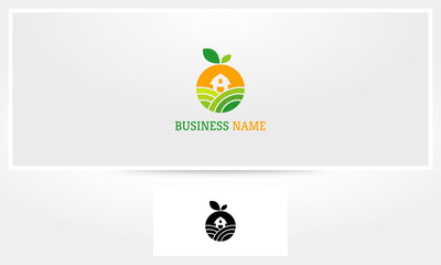 Fruit Farm Garden Barn Logo