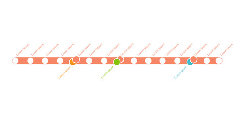 Metro or subway map design template. city transportation scheme concept. Vector illustration