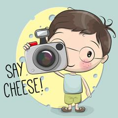 Cute cartoon Boy with a camera