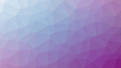 Abstract violet gradient lowploly of many triangles background for use in design