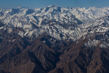 Himalaya mountains View from the airplane.