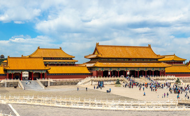 Gate of Supreme Harmony in the Forbidden City - Beijing