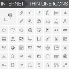 SEO and Internet Outline Icons