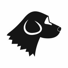 Beagle dog icon, simple style